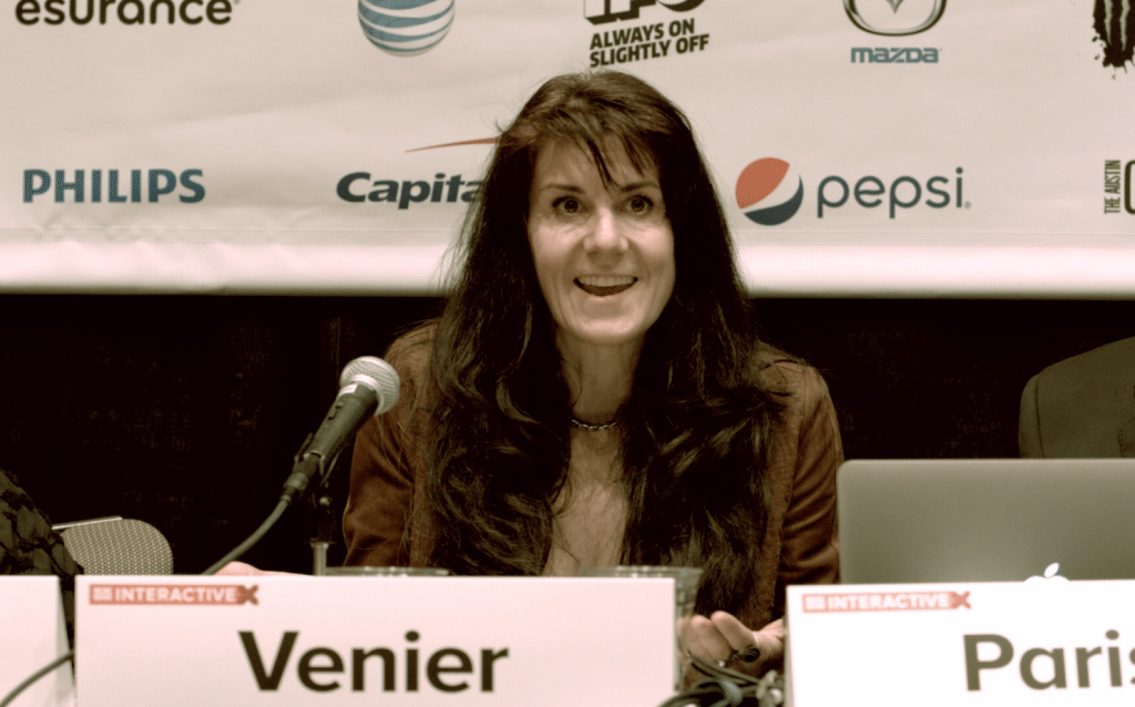 Leanne Venier speaking at SXSW Interactive 2015 about the Benefits of Flow State and the importance of integrating both hemispheres of the brain, left and right, for running a successful and thriving business.