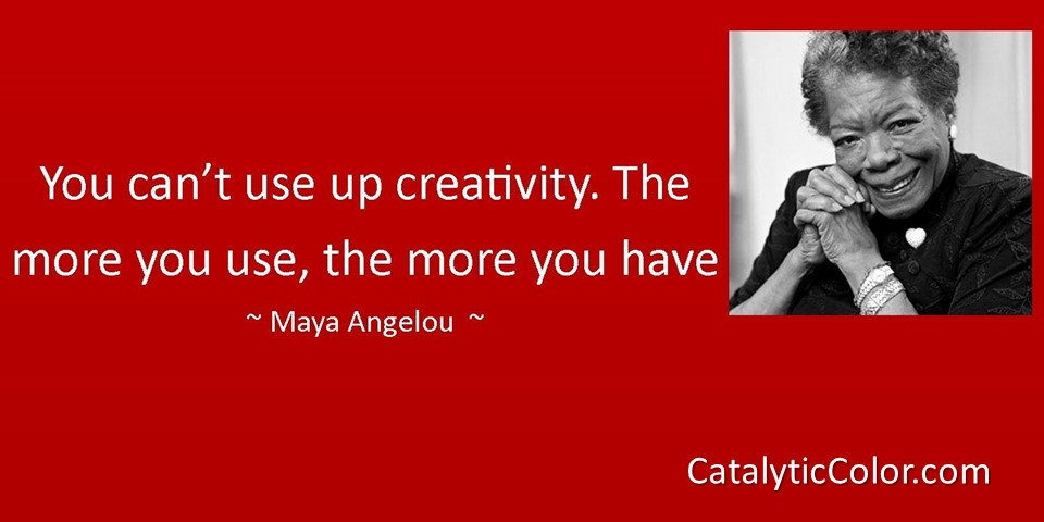 Maya Angelou Creativity RED