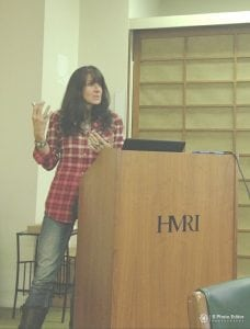 Leanne Venier often speaks at neuroscience conferences & research organizations like HMRI, Huntington Medical Research Institute